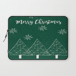 Merry Christmas Green Laptop Sleeve