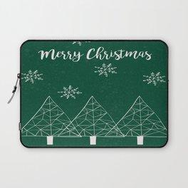 Merry Christmas Green Laptop Sleeve