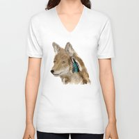 coyote V-neck T-shirts featuring Coyote by bri.buckley