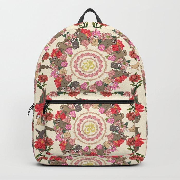 Sloth Yoga Floral Medallion Backpack