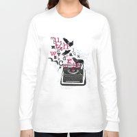 typewriter Long Sleeve T-shirts featuring typewriter by Natasha79