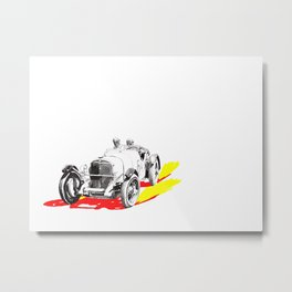 Classic Race Car Number 6 Metal Print