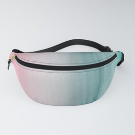 Touching Pink Teal Turquoise Watercolor Abstract #1 #painting #decor #art #society6 Fanny Pack