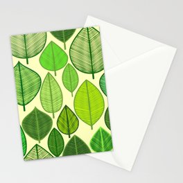 Delightful leaf pattern Stationery Cards