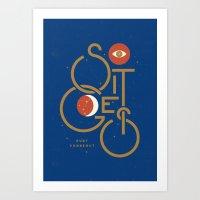 """So It Goes"" — Kurt Vonnegut Art Print"