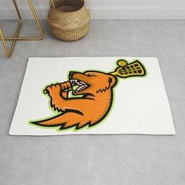 Mongoose Lacrosse Mascot Rug