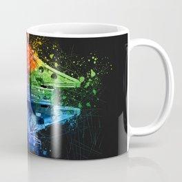 Millennium Falcon Splash Painting - Star ship Wall Art Coffee Mug