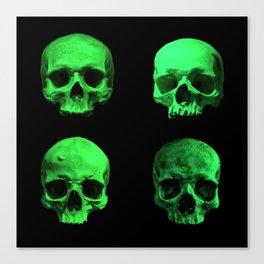 Skull quartet green Canvas Print