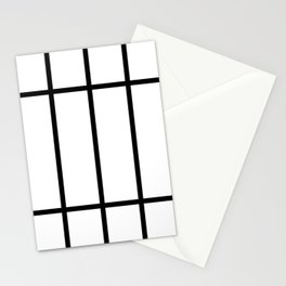 Black And White Grid Stationery Cards