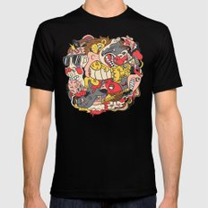 February Brain Dump SMALL Mens Fitted Tee Black
