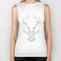 stag Biker Tanks featuring Stag by Andy Christofi