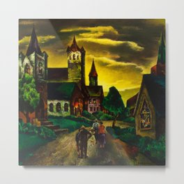 American Masterpiece 'Church on a New England Corner' by Will Schwartz Metal Print