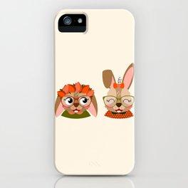 Jumelles lapines iPhone Case