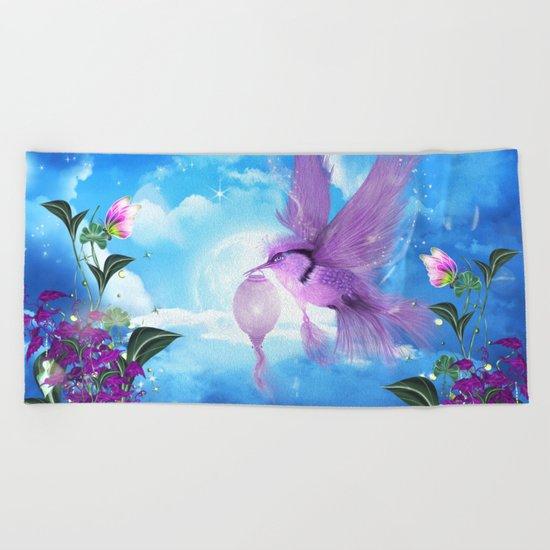 Beautiful fantasy bird Beach Towel