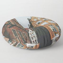 Gdansk alleyway Floor Pillow