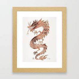 Chinese Dragon – Rose Gold Palette Framed Art Print