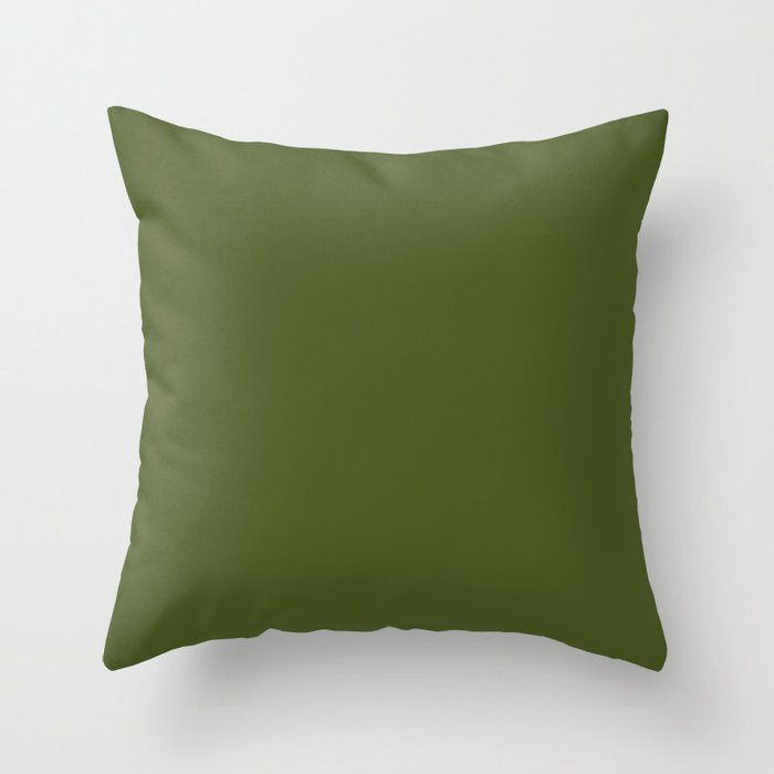Colors of Autumn Maple Dark Green Solid Color Throw Pillow
