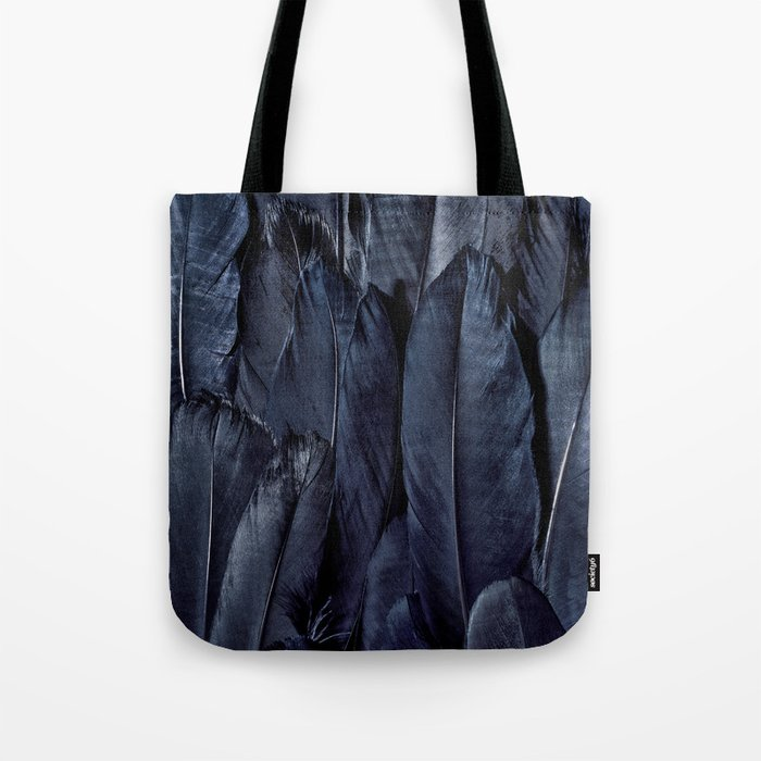 Black Feather Close Up Tote Bag