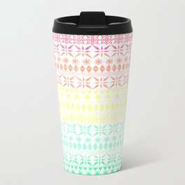 Rainbow Sorbet Metal Travel Mug
