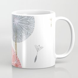 Red dandelions, watercolor Coffee Mug