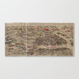 Panoramic view of the Rehe Imperial Palace between 1875-1900 [Rehe xing gong quan tu] Canvas Print