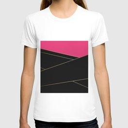 Angelica . Raspberry , black T-shirt