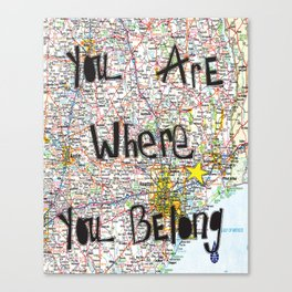 Where You Belong-Houston Canvas Print
