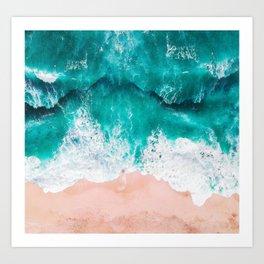 Ocean adventures -drone Art Print