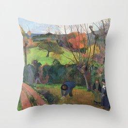 The willow tree  Paul Gauguin Throw Pillow