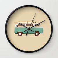 van Wall Clocks featuring Blue Van by Florent Bodart / Speakerine