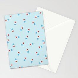 Rocket Popsicle Pattern Stationery Cards