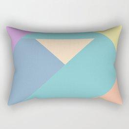 colorful triangular pastel background Rectangular Pillow