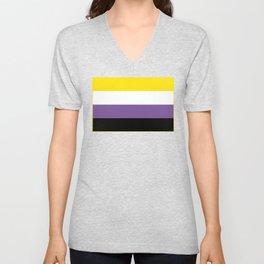 Gender Non-Binary Flag Unisex V-Neck