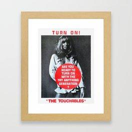 Vintage British exploitation film poster -The Touchables (1968) Framed Art Print