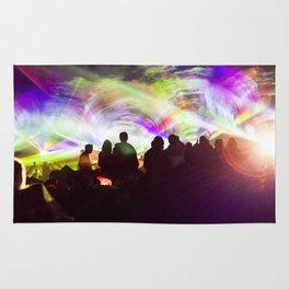 Laser show crowd Rug