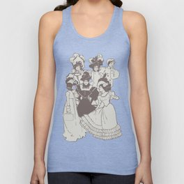 Vintage Ladies APRICOT / Vintage illustration redrawn and repurposed Unisex Tank Top