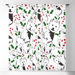 WEST HIGHLAND TERRIER CHRISTMAS GIFTS WRAPPED FOR ALL Blackout Curtain