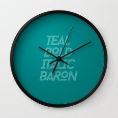 MetaType Teal Wall Clock
