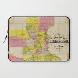 Chapman's New Sectional Map of Minnesota (1856) Laptop Sleeve