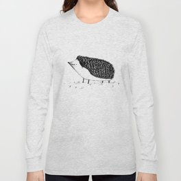 Monochrome Hedgehog Long Sleeve T-shirt