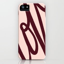 Love Letters, Blush and Vintage Chocolate Palette iPhone Case