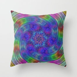 Liquid rainbow Throw Pillow