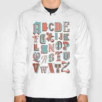 alphabet Hoodies featuring Alphabet Poster by Jude Landry