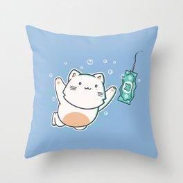 Nevermind Cat Throw Pillow
