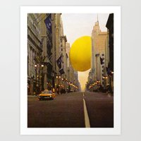 The red cab Art Print