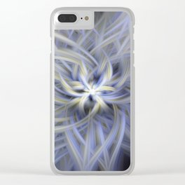 Forget-me-nots Twirled Clear iPhone Case