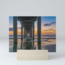 Scripps Pier Sunset Mini Art Print