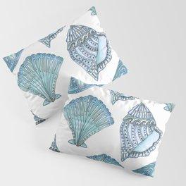 Watercolor Blue Seashells  Pillow Sham
