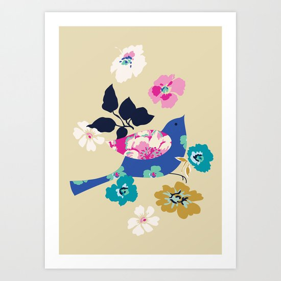 Birds and Blooms 2 Art Print
