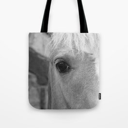 Black and White Horse Art Photography Tote Bag